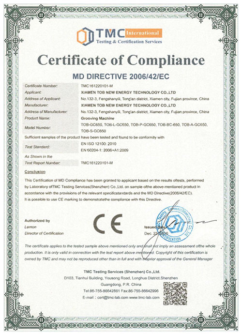 Battery Grooving Machine CE certificate
