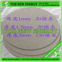 Titanium Foam Supplier T-1mm, Dia-100mm